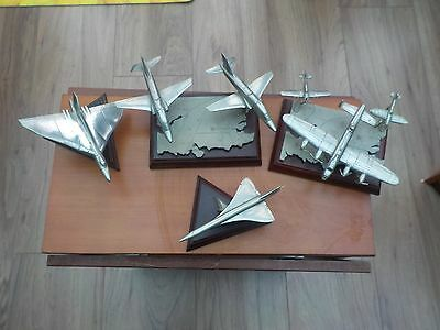 Set of 4 collectable Royal Hampshire pewter aircraft models