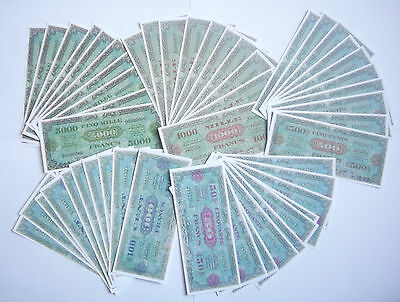 """SET DE 50 BILLETS 1944 """"Allied Military Currency"""" (REPRODUCTION)"""