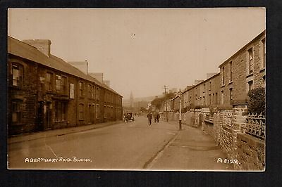 Blaina - Abertillery Road - real photographic postcard