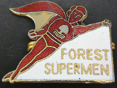 NOTTINGHAM FOREST Rare vintage badge Maker COFFER N'ton Brooch pin 29mm x 25mm