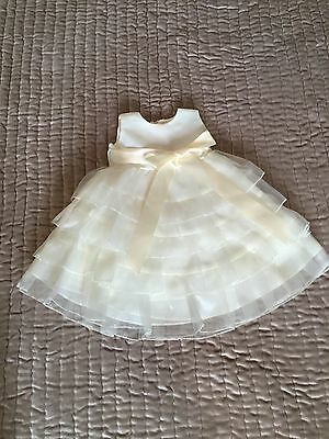 Girls Ivory Zoey Christening/Bridesmaid/Party Dress/Gown Age 18 Months