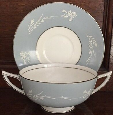 Minton Grey Cameo Soup Cup And Stand Up To 6 Available
