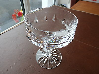 """Cut Crystal  """"Champagne"""" Saucer"""