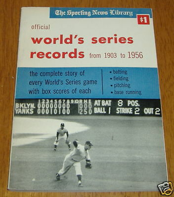 the sporting news  world series records  1957