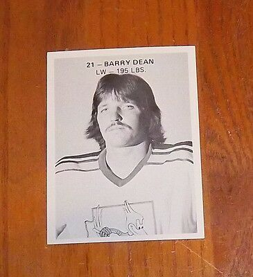 barry dean pheonix road runners player  1970's WHA
