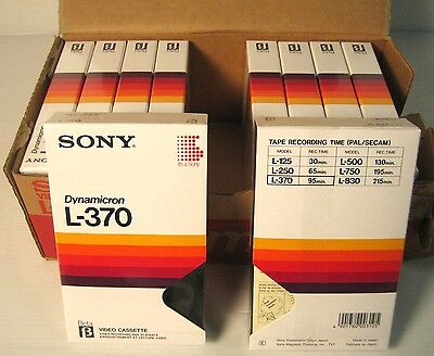 sony dynamicron l-370 beta, 10 pezzi, new factory saled!