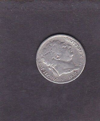 GB  1817 George lll Sixpence
