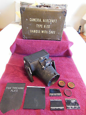 Aircraft Camera-Type K20-Folmer Graftex-Serial #AC4271718 (1942)-Filters/Case