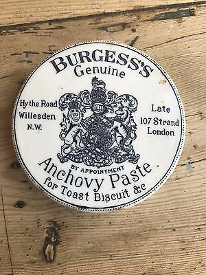 Burgess Anchovy Paste Lid