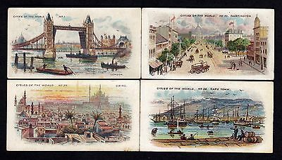 Player's Cigarette Cards - Cities of the World - 4 different