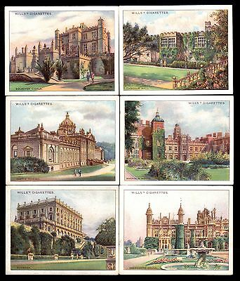 Wills Cigarette Cards - Beautiful Homes - 6 different