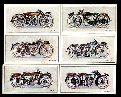 Wills Cigarette Cards - Motor Cycles - 6 different (1)