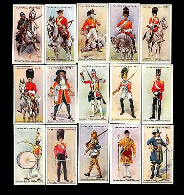 Player's cigarette cards - Regimental Uniforms (Blue Backs) - complete set