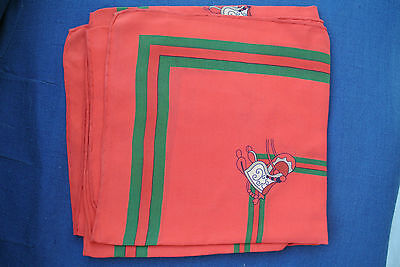 GUCCI scarf red green silk scarf horse saddles horses equestrian