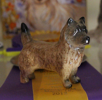 Beautiful Beswick Red Brindle Cairn Terrier Dog England Statue Figurine