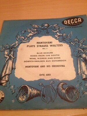Mantovani Plays Strauss Waltzes No 1 Decca Records 45rpm