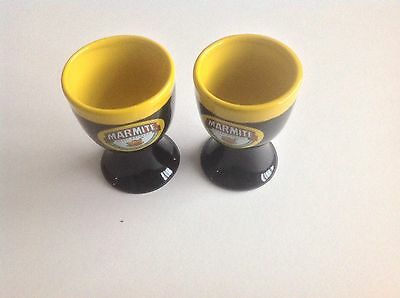 Collectable Marmite Ceramic Egg Cups X 2  - New