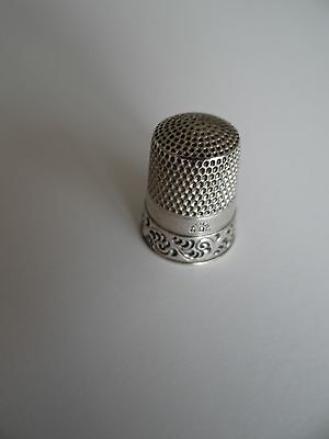 Antique Simon Brothers Sterling Silver Thimble #10