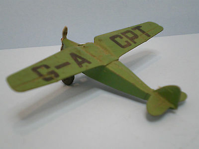 Dinky toys aeroplane #60B D.H. Leopard Moth  issued only in 1939