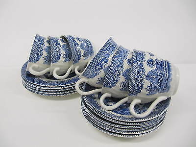 Blue and White Willow Pattern Tea Set Barrats of Staffordshire 16 peices