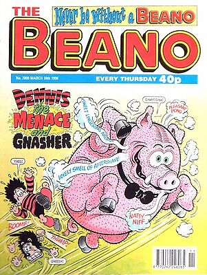 THE BEANO - 16th MARCH 1996 (14 - 20 March) - RARE 21st BIRTHDAY GIFT !! FINE+