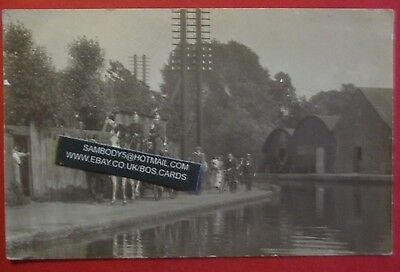 2 RP Postcards c.1913 FIRE BRIGADE & AT COOPERS CHEMICAL WORKS BERKHAMSTED HERTS