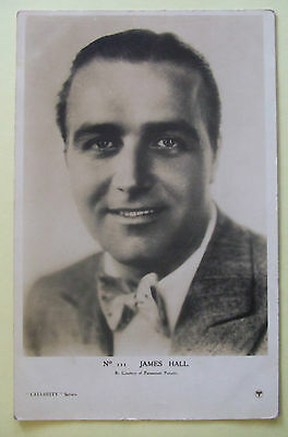 CINEMA/FILM STAR RP Postcard c.1935 JAMES HALL No.111