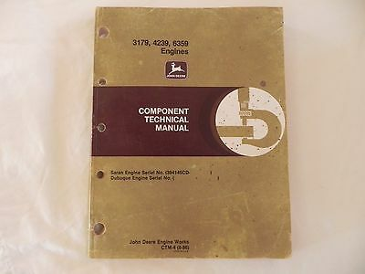 John Deere 3179, 4239 and 6359 Engines Component Technical Manual CTM-4
