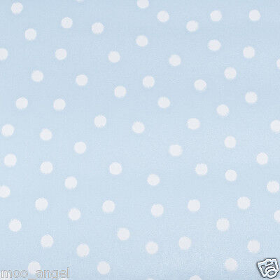 12 sheets of pale duck egg blue craft paper pattern with white polka dots 7 x 7""