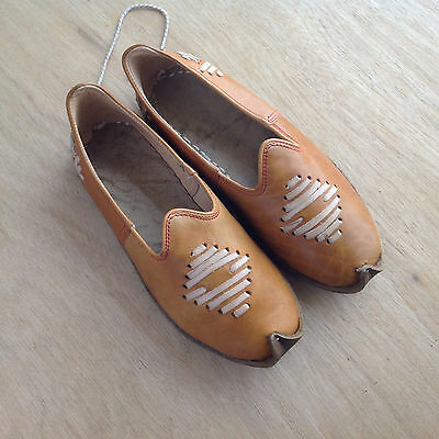 Handmade All Leather Shoes with Ethnic Styling Size 35