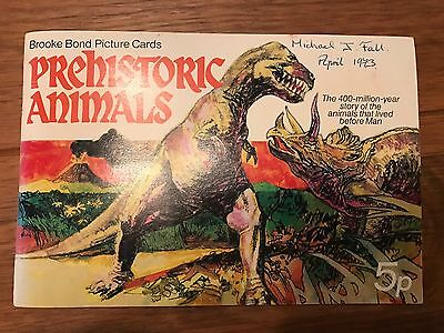 Brooke Bond Picture Cards Prehistoric Animals - All cards in place