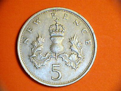 5p Coins UK - c.1968   Now Choose the one you - Collect Coins Great Investment