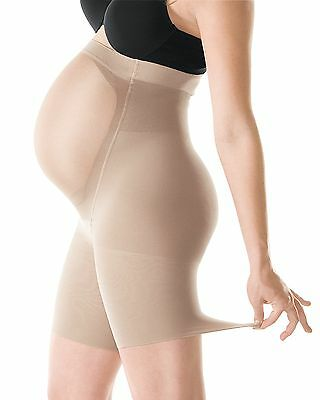 New! Spanx Mama Short Firm Butt And Thigh Bare Maternity Size B Bare Style 163!