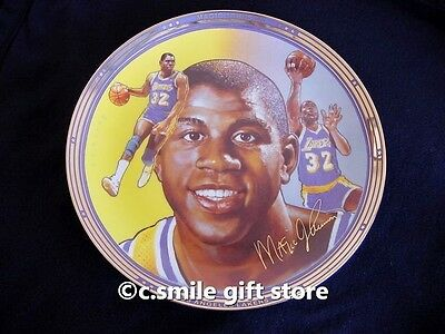 Sports Impressions *MAGIC JOHNSON* Lakers Basketball Gold LE Signature Plate