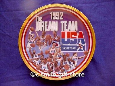 "Sports Impressions *DREAM TEAM 1992* 5507-03 Basketball 8 1/2"" Plate LE Ret MIB"