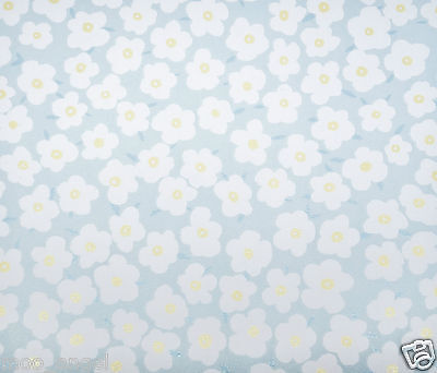 """12 sheets of pale blue craft paper patterned with pretty daisy flowers 7 x 7 """""""