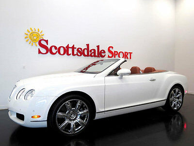 2007 Bentley Continental GT GLACIER WHITE w ONLY 19K MILES, LOADED w OPTIONS!! 07 BENTLEY GTC * ONLY 19K MILES, WHITE-TAN, CHROME WHEELS, LOADED, LIKE NEW