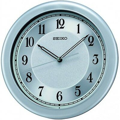 Seiko Analogue Silver Dial Quiet Sweep Seconds Hand Round Wall Clock QXA592S