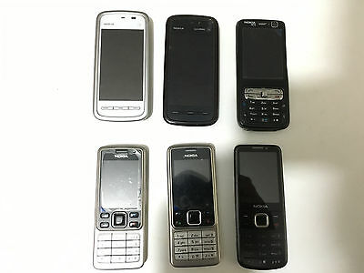 6 x Mobile Phones Joblot Clearance Bargain Ideal For Carboot Sale