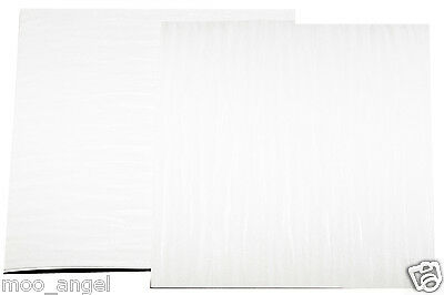 """12 sheets of shiny raised embossed pearl coloured craft paper 7 x 7 """""""