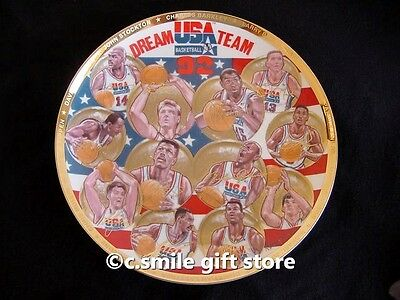 Sports Impressions *DREAM TEAM 1992* Basketball Gold Ltd Ed Signature Plate MIB