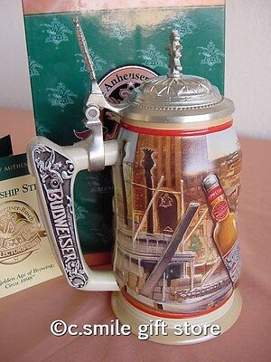 "ANHEUSER BUSCH ""GOLDEN AGE OF BREWING"" 1999 Membership Stein CB10 MIB Retired"