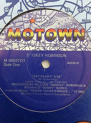 "SMOKEY ROBINSON: GET READY  1979  US Motown 12"" single M00027D1"
