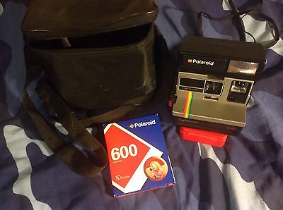 Polaroid SuperColor 635 Land Camera, With A Sealed 600 Film