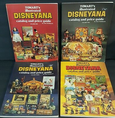 Tomart's Illustrated Disneyana Catalog and Price Guides Volumes 1 2 3 & 4
