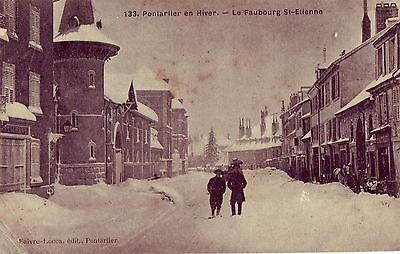"""Cpa  Pontarlier """"le Faubourg St Etienne""""   Animee  Rare"""