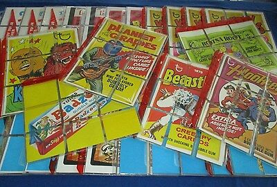 1973-75 Topps Wacky Packages Huge 375+ Card Checklist/Puzzle Lot w/ Variations !