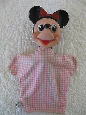 Vintage Gund Mtg. Co Minnie Mouse Hand Puppet Number 631 W.d.p On Back Of Minnie
