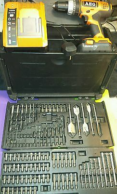 AEG BSB 18G 18v hammer drill, charger , li ion battery and bits