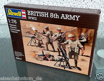 Revell Modellbausatz 02617 British 8th Army WWII Figuren 1:76 - NEU!!